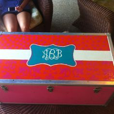 My old camp trunk with a new look 98f9dfb3241f2