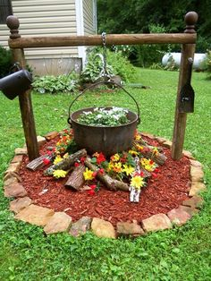 Welcome to the diy garden page dear DIY lovers. If your interest in diy garden projects, you'are in the right place. Creating an inviting outdoor space is a good idea and there are many DIY projects everyone can do easily. Diy Garden, Lawn And Garden, Dream Garden, Garden Projects, Garden Art, Tyre Garden, Yoga Garden, Planter Garden, Garden Kids