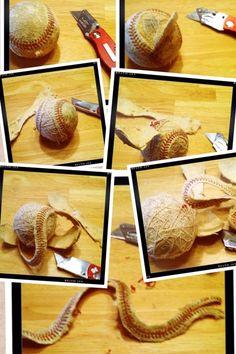 Creative use for old baseballs! baseball crafts