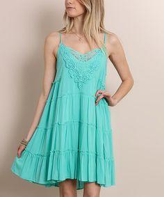 Love this Jade Ruffled Tank Dress on #zulily! #zulilyfinds