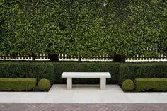 Permanent Link to : Cool and Green Garden Design Ideas by Paul Bangay Garden Landscape Design, Garden Landscaping, Formal Gardens, Front Gardens, Garden Seating, Garden Boxes, Plantation, Outdoor Areas, Dream Garden