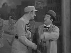 """Who's on first? Abbott and Costello perform the classic """"Who's on first?"""" baseball sketch in their 1945 film """"The Naughty Nineties"""" first performed as part of their stage act. Still find this really funny Really Funny, The Funny, Whos On First, Abbott And Costello, Classic Comedies, Classic Tv, Classic Video, Lol, Just For Laughs"""