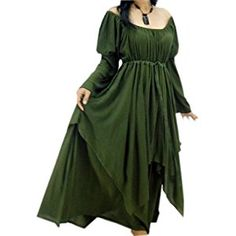 Lotustraders Lagenlook Peasant Renaissance Fair Long Sleeved Dress G922