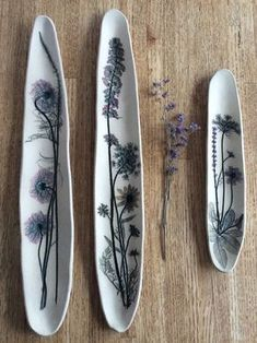 K Boyland Designs, botanical impressions in clay #handmade #pottery #design #inspiration #clay #art #ceramics