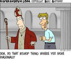 """""""Do That Bishop Move"""" (Cartoon by ReverendFun.com)"""
