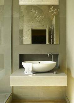 Atelier Maia, bathroom #london south kensington apartment, #spoonxl washbasin #agapedesign