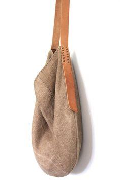 Bolsa flexible de lino belga hecha a mano el sol besó por groslie