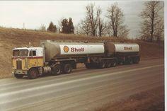 Vintage Trucks, Old Trucks, Road Train, Cab Over, Kenworth Trucks, Classic Trucks, Semi Trucks, Rigs, Trailers