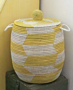 Yellow Senegal Woven Hamper http://store03.prostores.com/servlet/furbishstudioonline/the-370/Yellow-Senegal-Hamper--dsh-/Detail