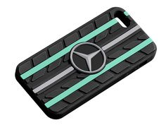 Sleeve for iPhone B67995252  Perfect for any motor racing fan's iPhone : this silicone sleeve with its unusual tyre tread design is suitable for the iPhone 5 and iPhone 5S. It features one silver-coloured and two Petronas green accent stripes. There is also a large, central 3D star logo. - Colour: black - Silicone - Tyre tread design Tyre Tread, 3d Star, Colour Black, Color, Star Logo, Green Accents, Iphone 5s, Mercedes Benz, Laptop