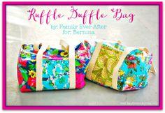 Ruffled Duffle Bag - Free Pattern + Tutorial  |  BERNINA Ruffler Foot Demo