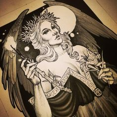 This lady is a highlight of an otherwise no good, very bad week. Thankful for painting. Tattoo Sketches, Tattoo Drawings, Art Sketches, Art Drawings, Dark Beauty, Gothic Beauty, Tattoo Artwork, Sam Smith, Samantha Smith