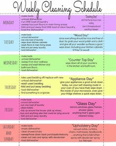 How to Have a Weekly Cleaning Schedule ! With Free Printable !