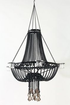 HauteLook   Chic Decor For Your Space: Black Beaded Classic Chandelier $59  (reg $125)