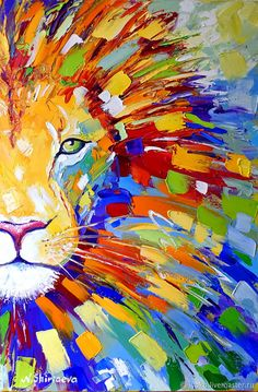 Buy Painting Lion Multicolor oil on canvas. Buy Painting Lion Multicolor oil on canvas. Abstract Metal Wall Art, Abstract Canvas, Acrylic Painting Canvas, Abstract Animal Art, Oil On Canvas, Lion Painting, Artist Painting, Arte Pop, Diy Canvas Art