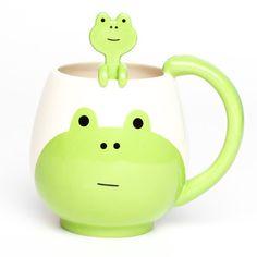 Japanese Gift Market: Frog Round Mug & Spoon Set, at 38% off!