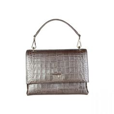 S/S Collection – Women's bag – Clutch – 1 removable handle, 1 removable shoulder strap, magnetic fastening – Inside: zipped pocket, 2 patch pockets – Composition: outside: leather; lining: CO – Size: cm – Including dustbag Grey Clutch Bags, Leather Clutch, Retro Sunglasses, Luxury Bags, Grey Leather, Tote Handbags, Louis Vuitton Damier, Shoulder Strap