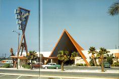 COVINA BOWL, 1956    Covina, California. Looks like its off of the movie Cars!!