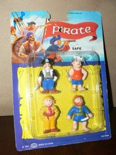 "1991 4 Soma Pirates 2"" PVC Figures Unopened package!  READ! #Soma"