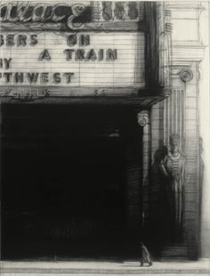Richard Bunkall, Strangers on a Train, 40'' x 30'', charcoal on paper, 1992