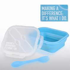 Making a Difference, It's What I Do Portable Lunch Box