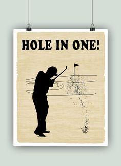 Impresión del arte de golf Golf Golf decoración por DigitalArtLand