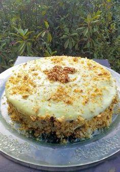 Greek Sweets, Greek Desserts, Greek Recipes, Greek Cake, Greek Pastries, Custard Cake, Food Gallery, Appetisers, How To Make Cake