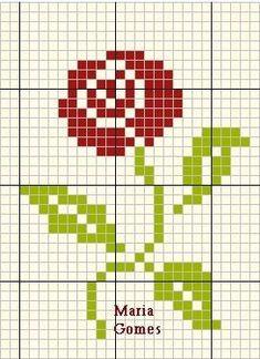 pattern / chart for cross stitch, knitting, knotting, beadi Christmas Embroidery Patterns, Simple Cross Stitch, Knitting Charts, Plastic Canvas Patterns, Learn To Sew, Bead Art, Beautiful Day, Pixel Art, Needlepoint