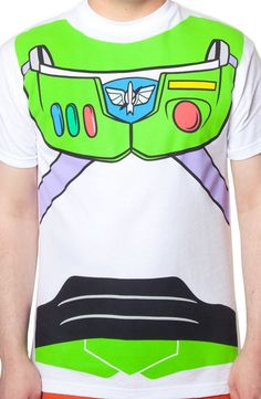 Toy Story Buzz Lightyear Costume T-Shirt A piece of film history everything about this shirt--music, humor, technology of the illustrations, brings out the geek in all of us.