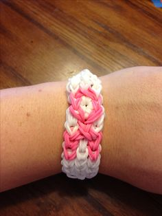 Pink Ribbon Rainbow Loom for Breast Cancer Awareness Month