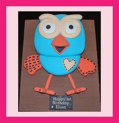 hoot cake by Tiny Angel Cupcakes, via Flickr