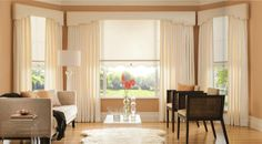 Draperies are flexible enough to adapt to changing styles by creating a timeless and luxurious feel.  #BudgetBlinds