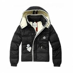 Moncler Branson Black Jacket Moncler Kids Online Sales More details: Black color Quilted down zipper jacket polyamide and polyuerthane Snap contrast knitted trims White color around the hood Two slash zip pockets at waist A signature logo on the pocket at the chest