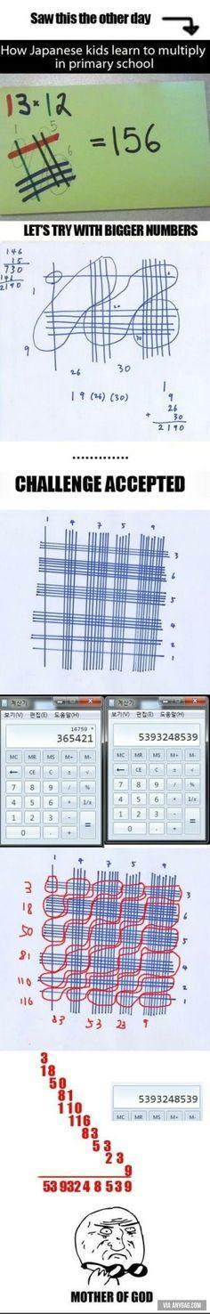 How Japanese Teaches Children to Multiply?