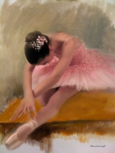 """""""Resting"""" one of my ballerina paintings 2012"""
