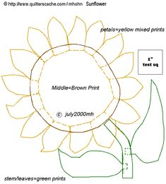 Printable Large Flower Leavestemplate | The 200th Pattern!!