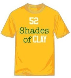 52 Shades of Clay T-shirt in Yellow Only $20!