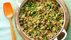 Leftover takeout rice and frozen broccoli get a teriyaki transformation in this super-fast spin on stir-fry.