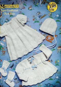 b2eb3eeded2a Baby Christening Set - 4 ply Christening Robe   Dress Jacket