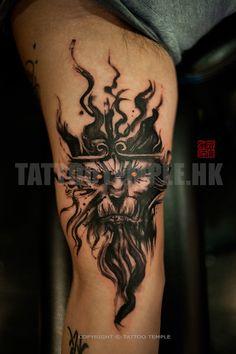 ... Dark King   Ink Brush Monkey King Abstract Tattoo Art   Apprentices