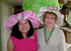 wrapping paper or butcher paper hats for girls for Tea Party