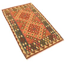 Kilim Afghan Old style rug NAU1459