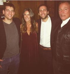 """Bruce and his kids (Sam, Jessica, and Evan) at a book party for his autobiography """"Born To Run"""" on November 14, 2016 in NYC."""