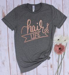 For all hair lovers out there! Show your love for hair and fashion with these fun statement tees! Our super comfy unisex tees make the perfect gift! Hair Stylist Shirts, Shirt Hair, Tee Shirt, Statement Tees, Rose Gold Hair, Vinyl Shirts, Hair Accessories For Women, Headband Hairstyles, Braided Hairstyles