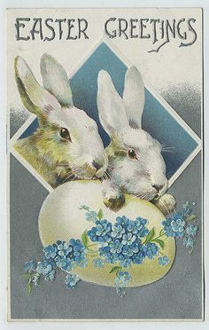 Vintage Easter bunny postcard, from Deborah R Easter Art, Hoppy Easter, Easter Crafts, Easter Bunny, Vintage Greeting Cards, Vintage Postcards, Images Vintage, Easter Parade, Easter Printables