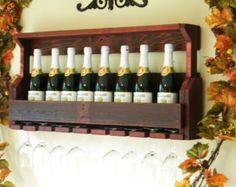 Christmas Gift Rustic Wine Rack Reclaimed Wood by JNMRusticDesigns
