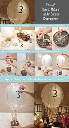 Hot air balloon centerpiece tutorial: