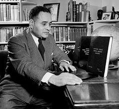 First African American Nobel Peace Prize winner: Ralph J. Bunche, 1950.