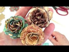 Paper Flower Tutorial 2 .... and then there were more! - YouTube