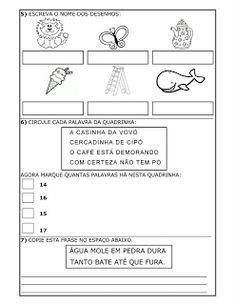 JARDIM COLORIDO DA TIA SUH: Avaliações para 1º ano prontas para imprimir - provas prontas para 1º ano